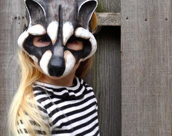 Child's Raccoon Mask