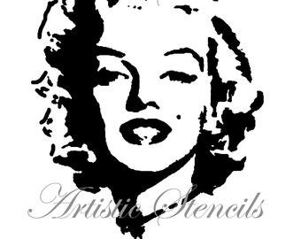 STENCIL Marilyn Full Face  8 X 10