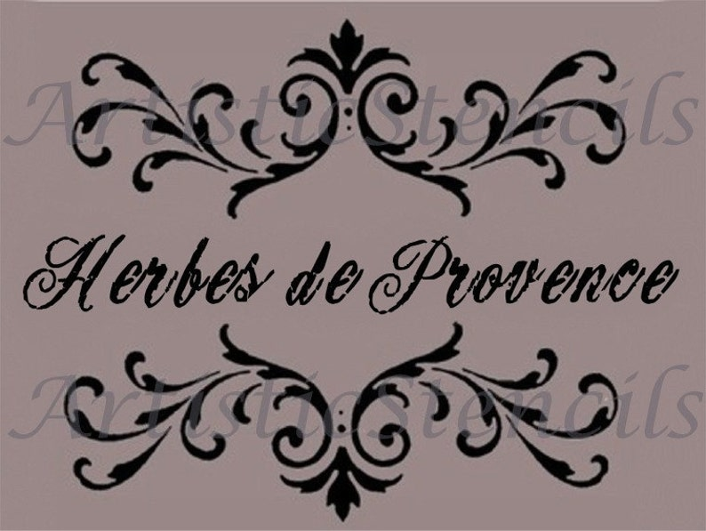 Stencil Shabby Chic Da Stampare.Stencil Herbes Of Provence Scroll Brackets Various Sizes Etsy