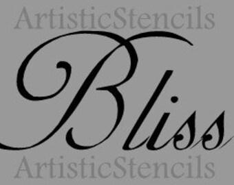 STENCIL Bliss  8x4