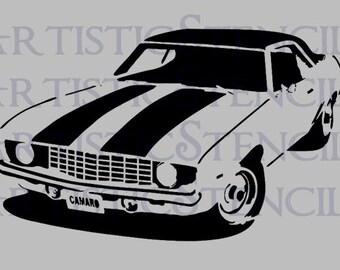 STENCIL 1969 Camaro - Various Sizes
