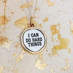 I can do hard things Jewelry-I can do hard things necklace-motivational Jewelry-cancer awareness Jewelry-Runners Jewelry