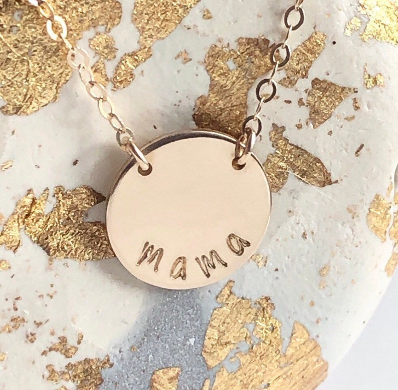 MamaMommy Mother  Handstamped necklace-New Mama to be image 0