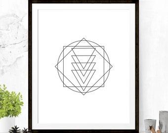 Minimalist Art Print, Geometric Art Print, Minimalist Art, Black and White Decor, Graphic Art, Graphic Print, Printable Art, Wall Decor