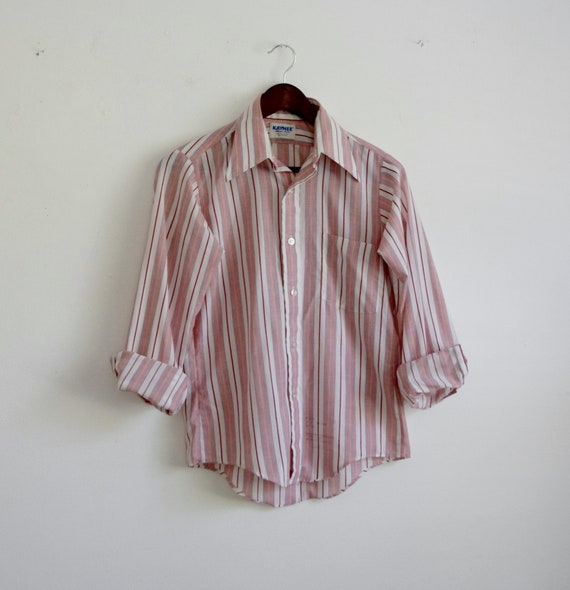 classic style Vintage Reed St stripes size 7 made in USA James boy/'s button down collared shirt Easter shirt