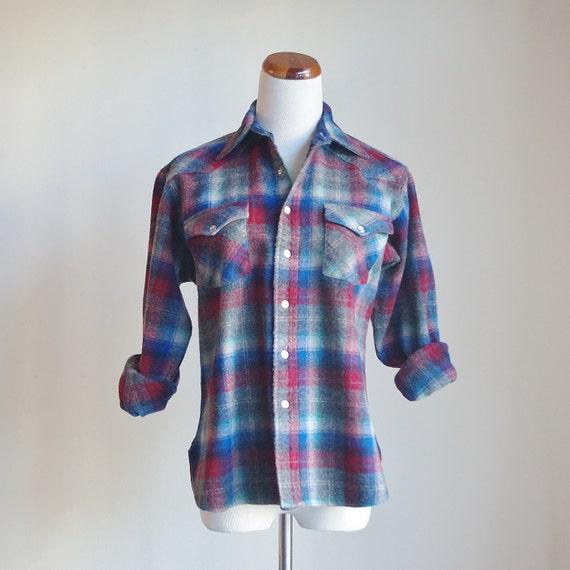Vintage Pendleton Plaid Shirt, Wool Shirt, Wool Pl