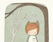 Whimsical Illustration -Woodlands - Lively in The Woods - Art Print