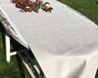 "Linen Table Runner - Rustic Weddings Table Runner-  Runner Rustic Table Runner - 18"" x 57"""