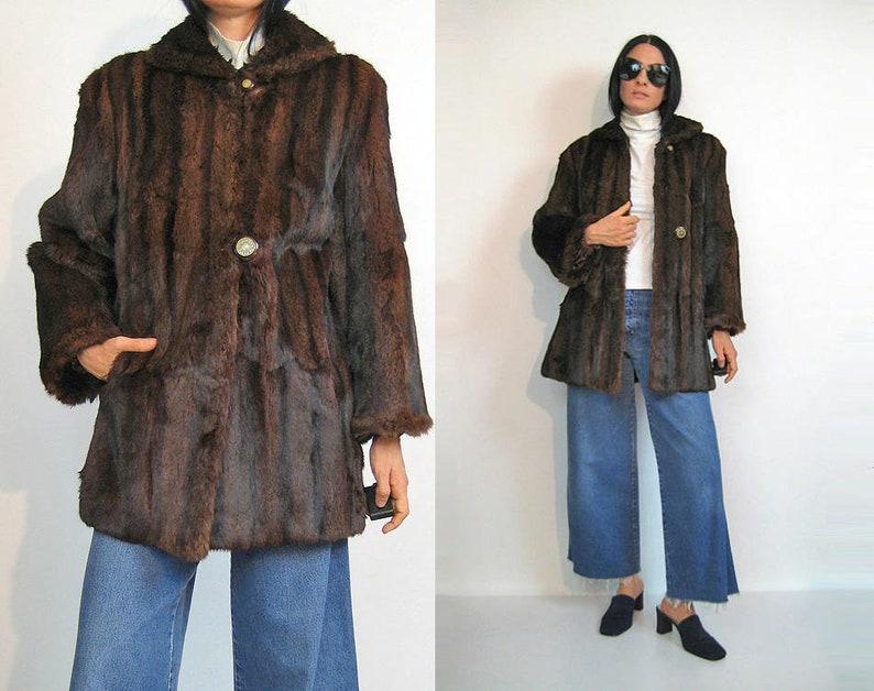 magasin en ligne 613c3 81261 Manteau de fourrure de vison acajou vente des années 50, manteau de vison  véritable des années 1960 Vintage 1950 / manteau de fourrure de vison / ...