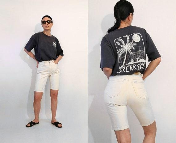 Lee Parchment Denim Bermuda Shorts 25x10 / Vintage