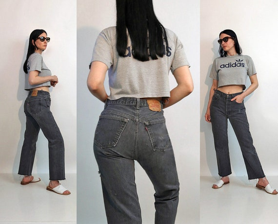 Levi's Charcoal 501 Jeans 30x27.5 / Vintage 1980s… - image 1