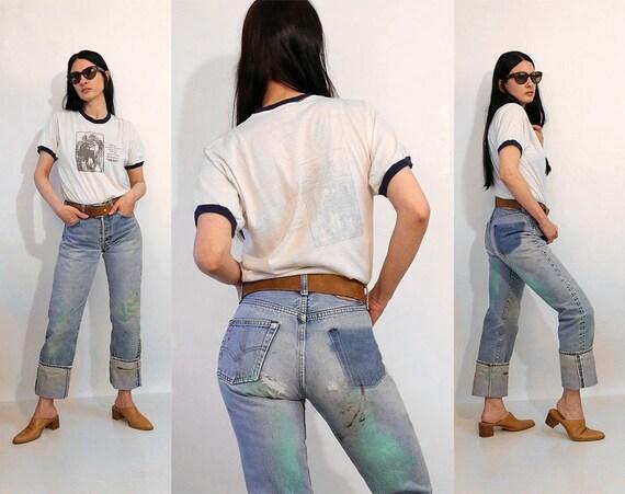 Levi's 501 Painted Redline Jeans 26x33 / Vintage 1