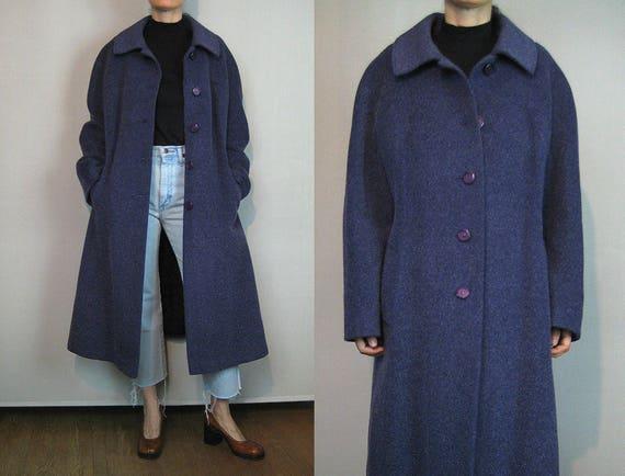 Oversized Dusty Violet Mohair Coat / Minimalist Wo