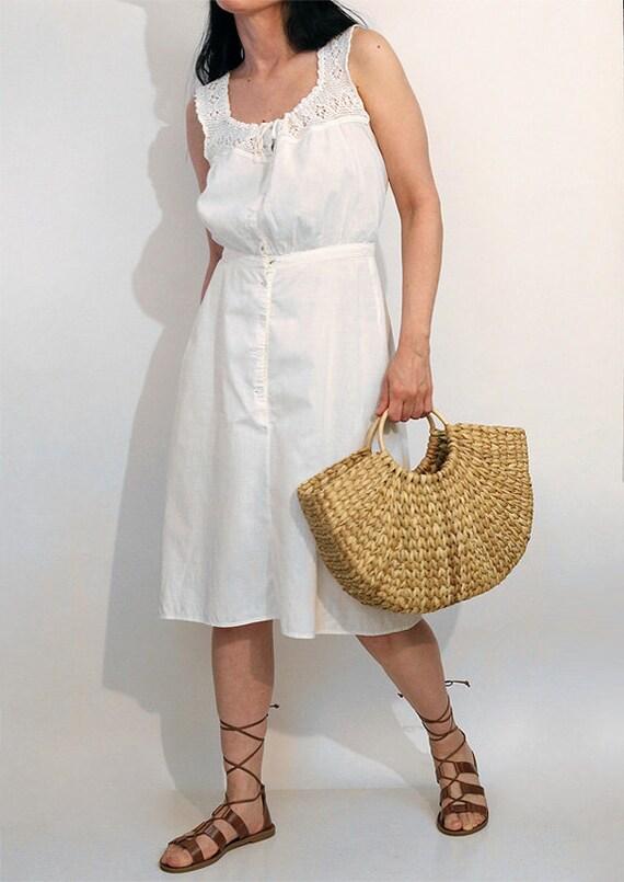 Antique Crochet Sun Dress / Vintage Antique Victo… - image 2
