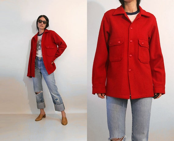 70s Red Official Boy Scout Jacket / Vintage 1970s