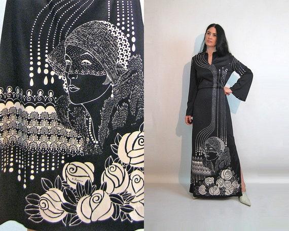 60s Rare Paganne Signed Dress / Vintage 1960s 1970