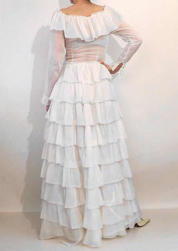 30s Ruffled Cotton Voile Dress / Vintage 1930s Sh… - image 8