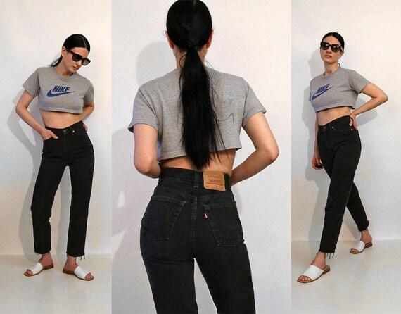Levi's Black 512 Jeans 25.5x27 / Vintage 1980s Bla