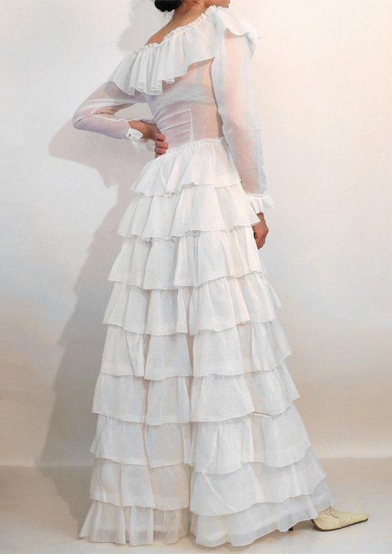 30s Ruffled Cotton Voile Dress / Vintage 1930s Sh… - image 6