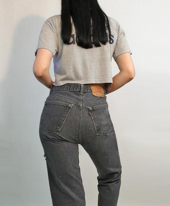 Levi's Charcoal 501 Jeans 30x27.5 / Vintage 1980s… - image 6
