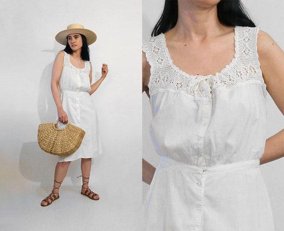 Antique Crochet Sun Dress / Vintage Antique Victor