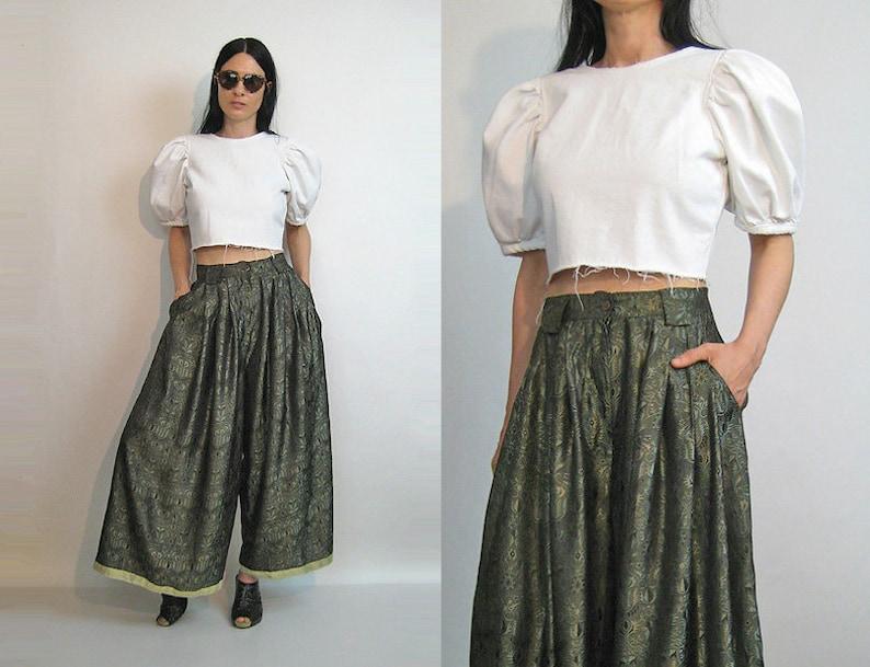059de02c2eec Ivan Grundahl India Palazzo Pants   Vintage 80s Olive Green
