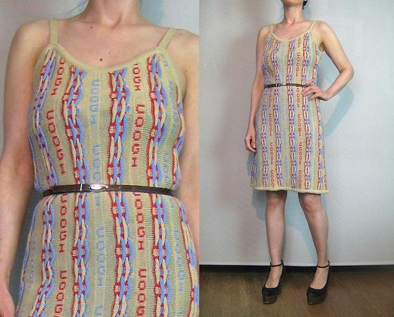 80s COOGI Cotton Cable Knit Sundress / Vintage 198