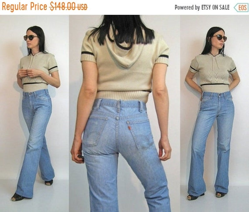 1291c270 ON SALE 70s Levi's Faded Bellbottoms 29x32 / Vintage 1960s | Etsy