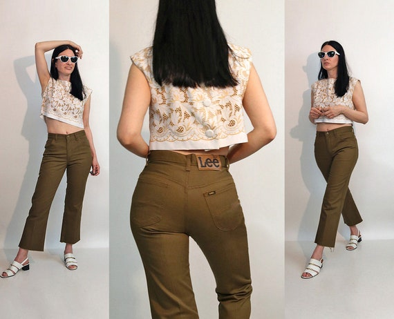 60s Mossy Lee Flared Jeans 27.5x26 / Vintage 1960s