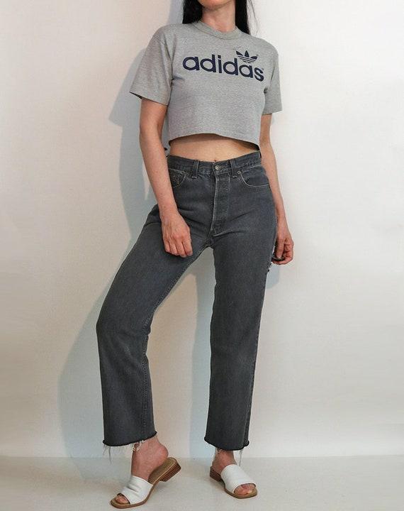 Levi's Charcoal 501 Jeans 30x27.5 / Vintage 1980s… - image 4