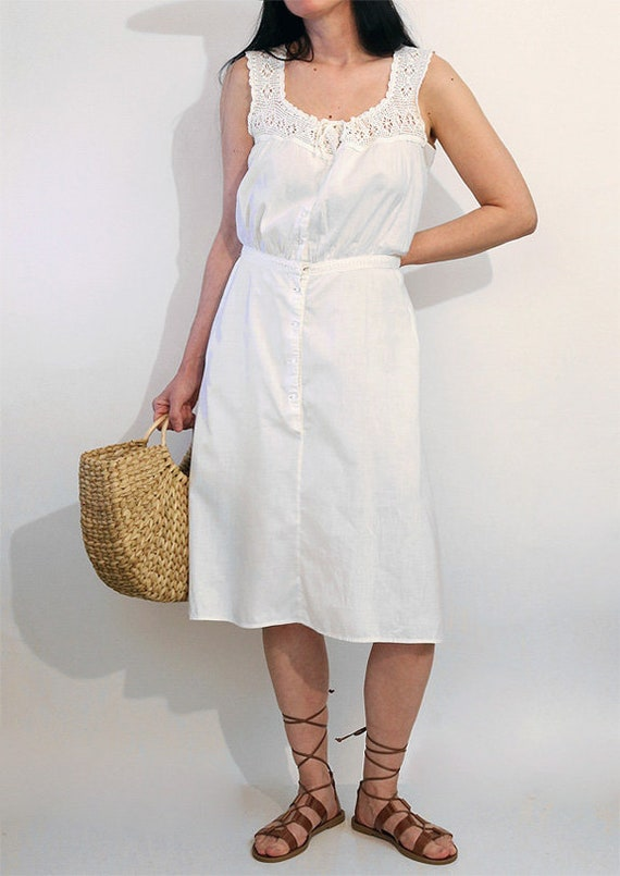 Antique Crochet Sun Dress / Vintage Antique Victo… - image 3