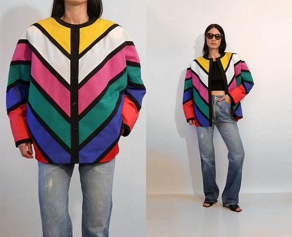 Margeurite Rubel Rainbow Chevron Quilted Cotton Co