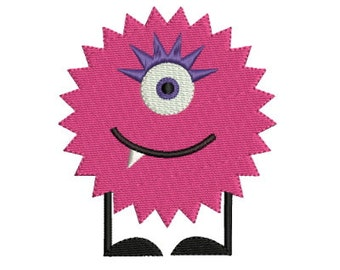 Cute Monster 9 Machine Embroidery Design 2 Sizes