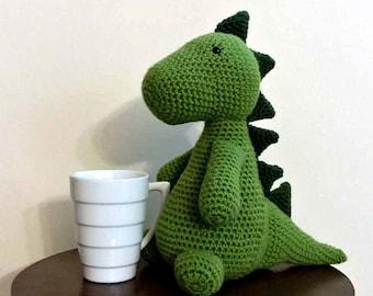 Crochet Dinosaur Stuffed Plushie