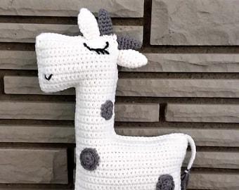 Ragdoll Crochet Cow, Handmade Farm Animal