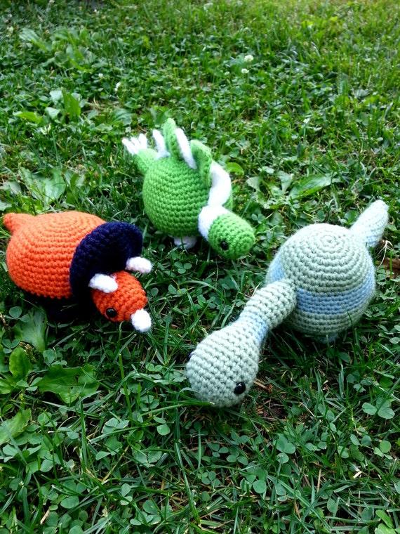 Schreibtisch Dino Set häkeln Dinosaurier Spielzeug Set mit 3 | Etsy