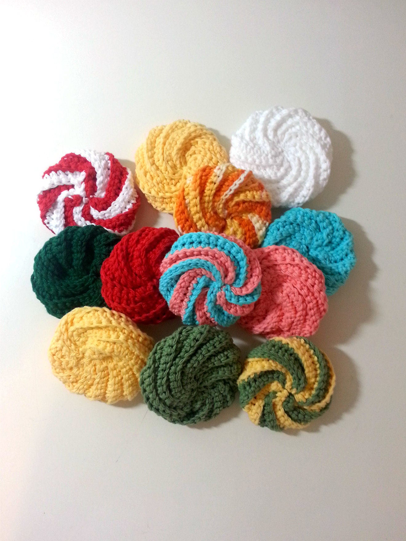 Spiral Crochet Scrubbie Twisted Scrubbers Cotton Dish Etsy