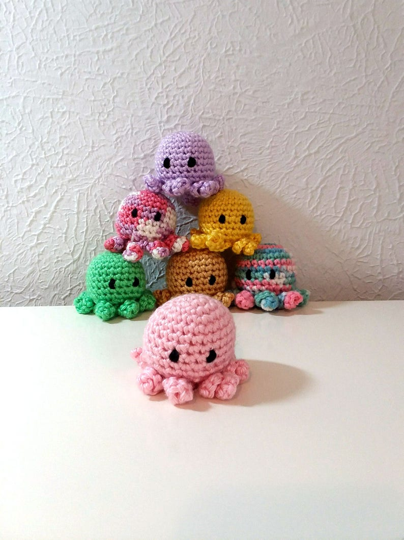 Mini Octopus Crochet Octopus Tiny Crochet Sea creature image 0