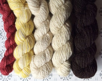 """Guldslottet - The Golden Castle - """"Once upon a time"""" collection of handspun yarns"""