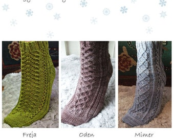 E-book - Knitting patterns - Nordic Collection A trilogy of socks