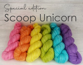 SCOOP Unicorn - Handdyed fingering weight sock yarn - 50 g 200 m