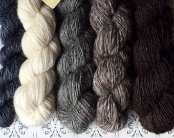"""Riddaren Rider - """"Once upon a time"""" collection of handspun shawl yarns"""
