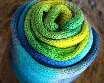 Happylicious half&half sock blank - Handdyed fingering weight yarn