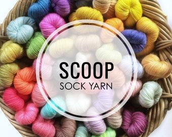 SCOOP - Handdyed fingering weight sock yarn - 50g 200m