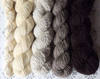 """Maria och trollen - """"Once upon a time"""" collection of handspun shawl yarns"""