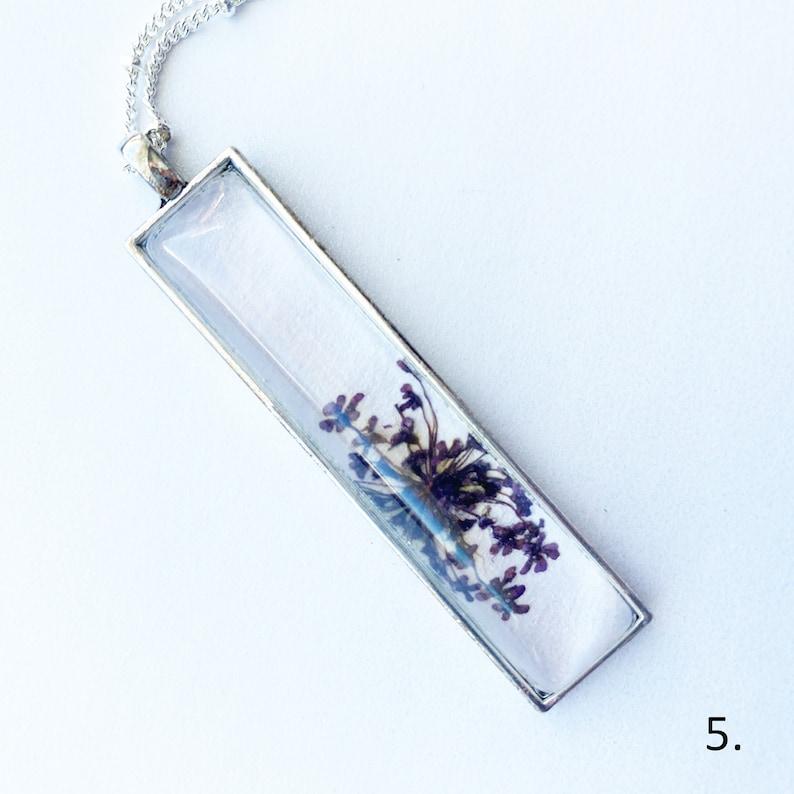 Ready to Ship Rectangle Botanical Necklaces