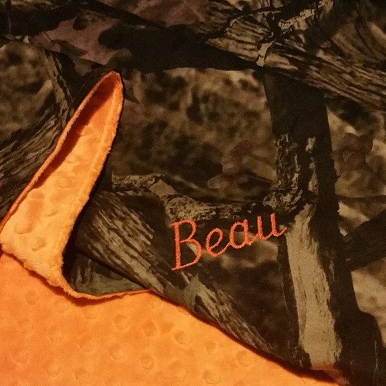 055185b20b07 Camouflage Baby Blanket Camo and Orange Realtree Baby