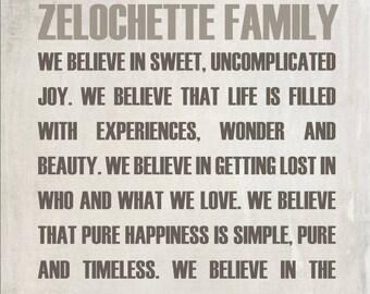 Règles familiales Art mural, Poster, cadeau de la famille, famille de cadeau personnalisé de la famille, signe de personnalisé, typographie règles signe, Subway Art, famille personnalisée