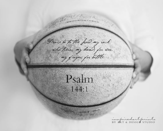 Scripture Quote Basketball Art Personalized Print Custom | Etsy
