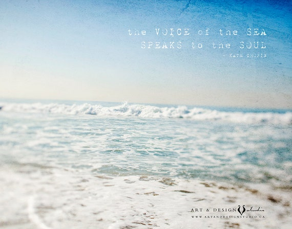 Quotes About Ocean | Inspirational Beach Art Ocean Quotes Ocean Photograph Etsy